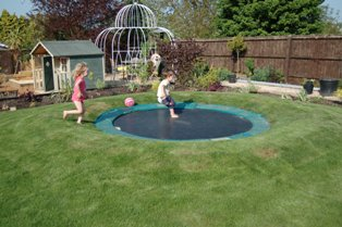 Marvelous Sunken Trampoline In Action