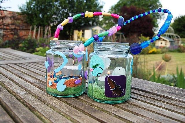 Garden jam jar lights