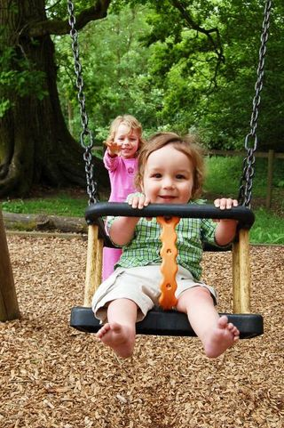 Play area - swings