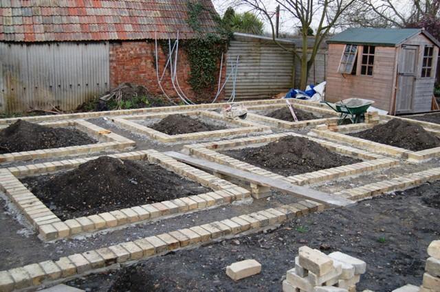 Brick edge to veg beds