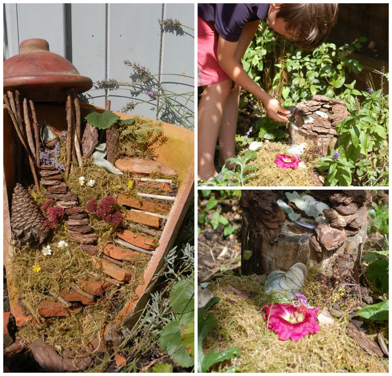 Fairy house collage