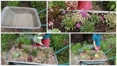 Alpine wheelbarrow collage 2