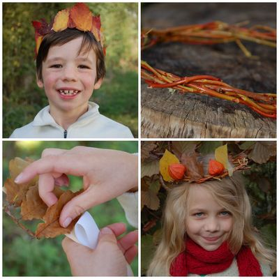 Autumn crown collage