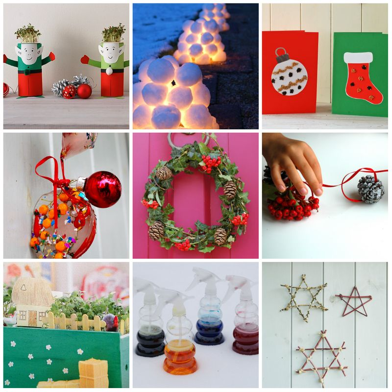 Christmas activities collage