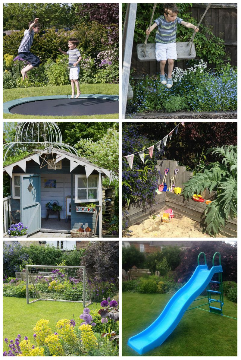 Collage of play equipment