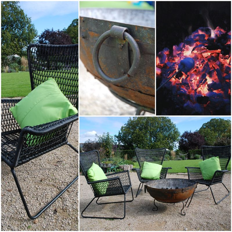 Kadai fire bowl Collage